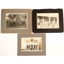Mounted Photographs of Business Exteriors