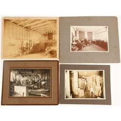 Mounted Photographs of Factory & Shop Interiors