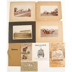 Mounted Photographs of Farms & Other Farming Ephemera