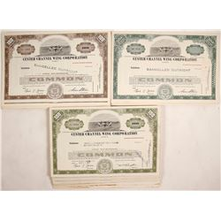 Stock Certificates Custer Channel Wing Corporation