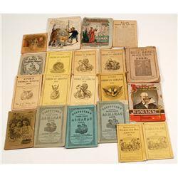 Twenty-one nineteenth century almanacs