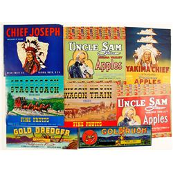 Western Theme Colorful Fruit Labels
