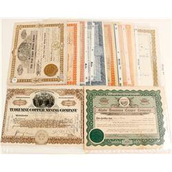 Arizona Copper Stock Certificate Collection