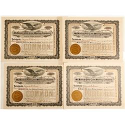 McKinley Gold Coin Mining Company Stock Certificates