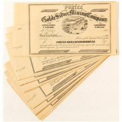 Porter G&S MC Certificates, 1860's