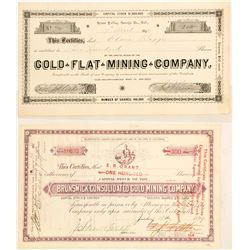 Two Grass Valley Stock Certificates