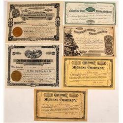 California Mining Certificates (6)