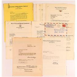 Various Anaconda Mine Letters