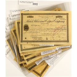 Parrot Silver & Copper Co. Stock Certificate Collection
