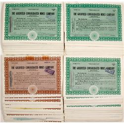 Goldfield Consolidated Mines Company Stock Certificates (approx. 400 pieces)