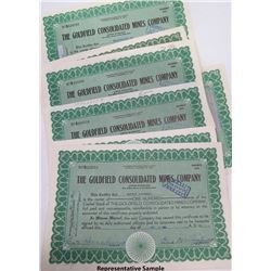Stock Certs. Goldfield Consolidated Mines Company
