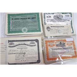 Goldfield, Tonopah, Terex, Stock Certs & Bank Deposit Notes