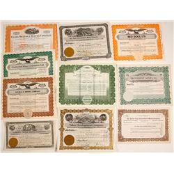 Nevada Mining Certificates (10)