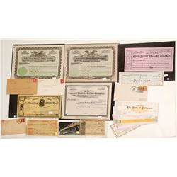 Nevada Mining Ephemera-Checks, Stocks, Postal History