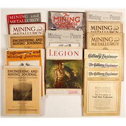 Group of mining magazines