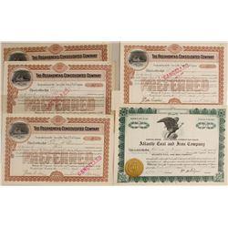 U.S. Coal Mining Stock Certificates