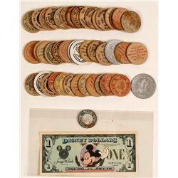Disney Dollar, Wooden Nickels and 1917 Token