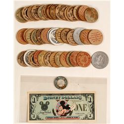 Disney Dollar, Wooden Nickels and 1917 Token