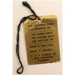 Souvenir Coin Gold Tag