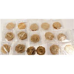 Gold Slug Replicas (30)