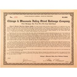 Chicago & Wisconsin Valley Street Railways Company Bond