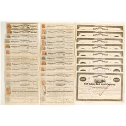 Boston & Providence & Old Colony Stock Certificates