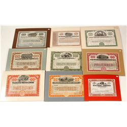 Matted Mostly Railroad Stocks (9)