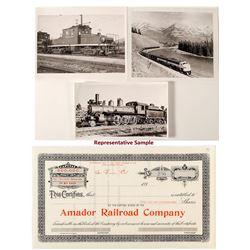 Nice Large B/W Train Photo and Stock Group