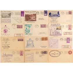 Twelve Post Office Dedication Covers