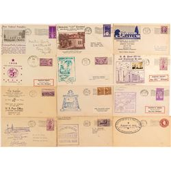 Twelve Post Office Dedication Covers