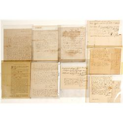 Collection of Stampless Letters, Letters, and Official Documents c1800