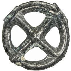 "GAUL: Celtic, ca. 1st century BC, potin ""wheel"" (1.67g). EF"