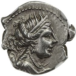 MASSALIA: AR drachm (2.74g), 2nd-1st centuries BC. NGC AU