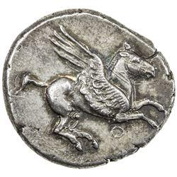 CORINTH: Corinthia: Anonymous, circa 375-345 BC, AR stater (8.58g). AU