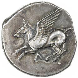 LEUKAS: AR didrachm (8.71g), circa 420-350 BC. VF-EF