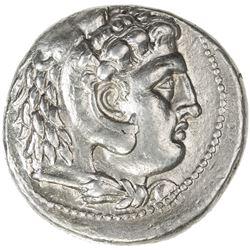 MACEDONIA: Alexander III, the Great, 336-323 BC, AR tetradrachm (17.13g). VF-EF