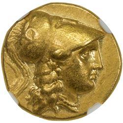 MACEDONIA: Alexander III, the Great, 336-323 BC, AV stater (8.47g). NGC EF