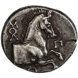 THRACE: Maroneia: Anonymous, circa 398-385 BC, AR triobol (2.73g). EF