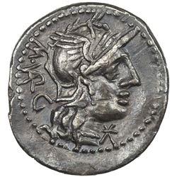ROMAN REPUBLIC: M. Vargunteius, 130 BC, AR denarius (3.75g). VF-EF