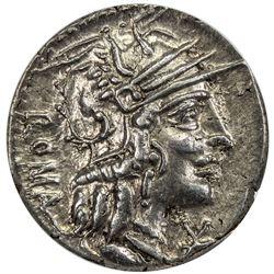 ROMAN REPUBLIC: M. Calidius, Q. Caecilius Metellus & Cn. Fulvius, 117/116 BC, AR denarius, Rome. ICG