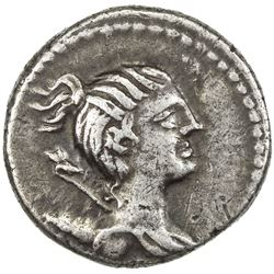 ROMAN REPUBLIC: Postumius, 74 BC, AR denarius (4.03g). VF