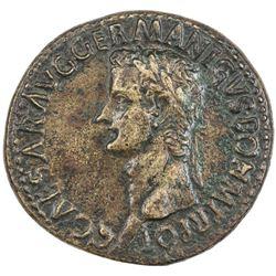 ROMAN EMPIRE: Caligula, 37-41 AD, AE sestertius (25.41g), Rome. F