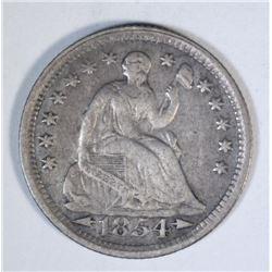 1854 ARROWS SEATED HALF DIME, XF