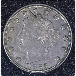 1883 NO CENTS LIBERTY NICKEL, CH BU