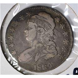 1834 BUST HALF DOLLAR, F/VF