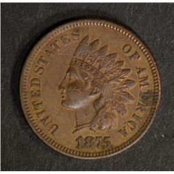 1875 INDIAN CENT, VF/XF
