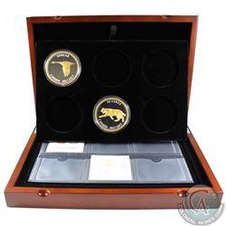 1867-2017 Canada Alex Colville Design 5oz. 25-cent and Dollar Fine Silver Big Coins in the Deluxe Pr
