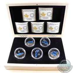 2014-2015 Canada $20 Great Lakes Fine Silver 5-Coin Set in Deluxe Case (TAX Exempt)