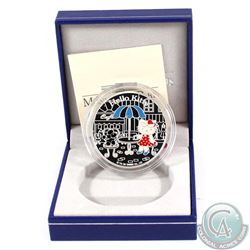 """2005 Paris Mint 1.50 Euro Hello Kitty Commemorative .900 Silver """"Kitty in Champs-Elysees"""" Coin."""