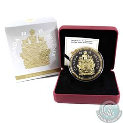 2015 Canada 50-cent 5oz. Big Coin Fine Silver (lighty toned on obverse). TAX Exempt